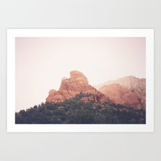 Sunrise in Sedona Art Print