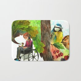 Drawing forests Bath Mat