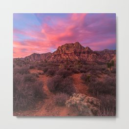 Sunrise at Red Rock Metal Print