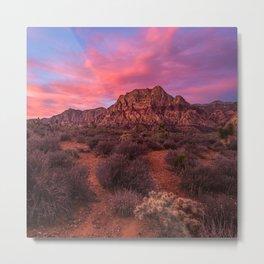 Sunrise at Red Rock Metal Print