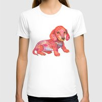 mini T-shirts featuring Mini Dachshund  by Ola Liola