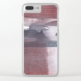 Gray claret wash drawing design Clear iPhone Case