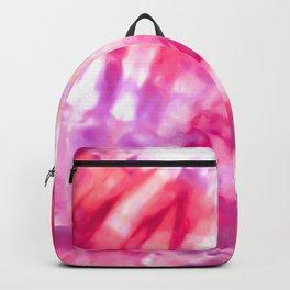 Artsy Abstract Summer Neon Pink Purple Tie Dye Backpack