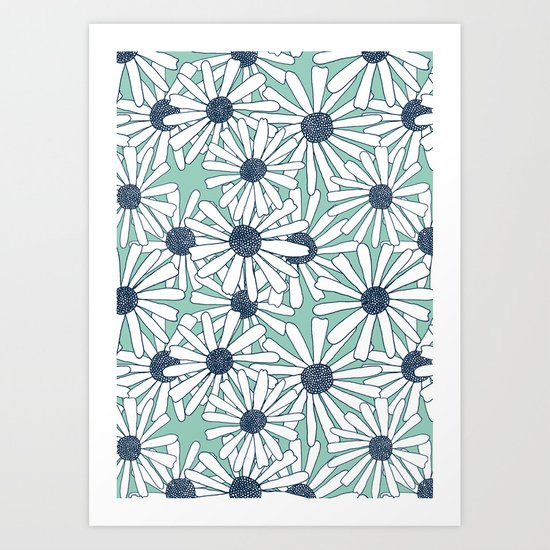Because Daisies Art Print