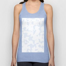 Large Spots - White and Pastel Blue Unisex Tank Top