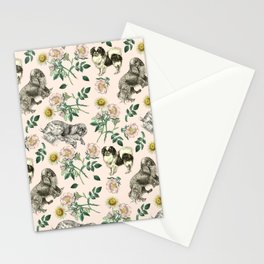 DOG ROSE & TOY SPANIEL PATTERN  Stationery Cards