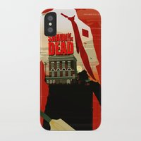 shaun of the dead iPhone & iPod Cases featuring Shaun Of The Dead by Duke Dastardly