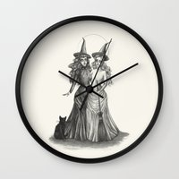 coven Wall Clocks featuring The Witches by Caitlin McCarthy