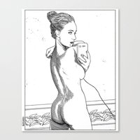 apollonia Canvas Prints featuring asc 594 - Les amatrices I by From Apollonia with Love