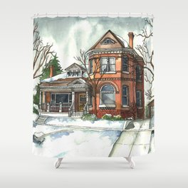 Victorian House in The Avenues Shower Curtain