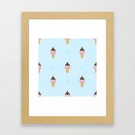 Sweet ice cream Framed Art Print