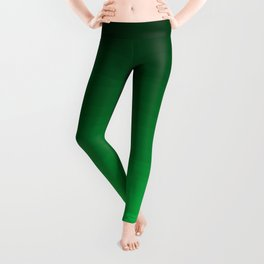 Happy Bright Apple Green Ombre Leggings