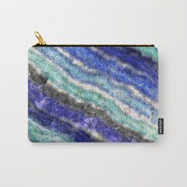 Opal gemstone & Lapis lazuli Carry-All Pouch