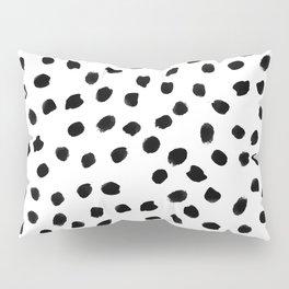 Black daps on white Pillow Sham