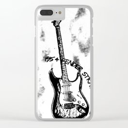 1954 STRATOCASTER, Guitar Art, Music Wall Art, Rick & Roll Decor Clear iPhone Case