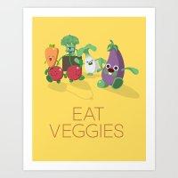 EAT VEGGIES Art Print
