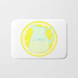 Lemonade With Slice Bath Mat