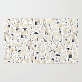 Watercolour Sheep Rug