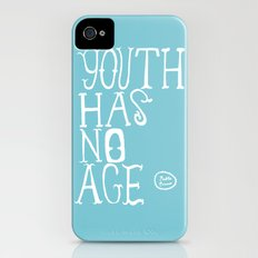 Youth Has No Age (Blue) Slim Case iPhone (4, 4s)