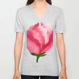 Beauty Rose Flower Unisex V-Neck
