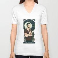 derek hale V-neck T-shirts featuring Derek by callahaa
