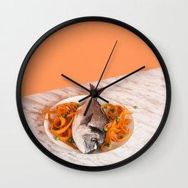 Carrot Serpentine Wall Clock