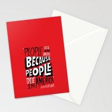 People Die in America Because People Die in America Stationery Cards