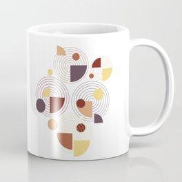 Geometric minimal abstract brown pattern  Coffee Mug