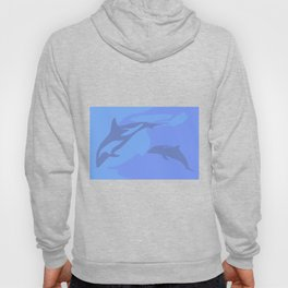 Dolphin Background Hoody