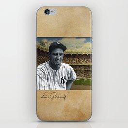 Baseball Vintage Lou Gehrig New York Yankee iPhone Skin
