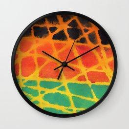 Colorful giraffe pattern Wall Clock