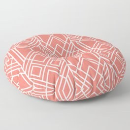 Peach Echo Geo Floor Pillow