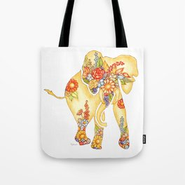Elegant Elephant Tote Bag