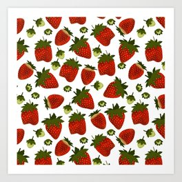 Strawberry Pattern Art Print