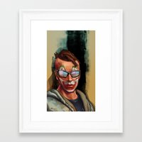 grand theft auto Framed Art Prints featuring Grand Theft Auto Online Characters - The Legend of The Damned by W_Flemming
