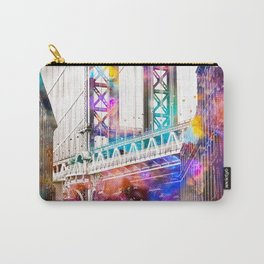Time Travel at the Brooklyn Bridge Carry-All Pouch