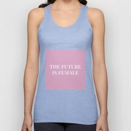 The future is female pink-white Unisex Tank Top