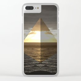 Sunset Paradise Clear iPhone Case
