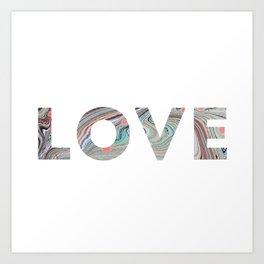Marbled LOVE Art Print