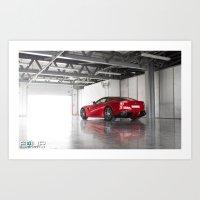 ferrari Art Prints featuring Ferrari by 4wheelsoflux