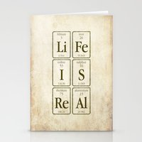 periodic table Stationery Cards featuring Periodic Realisation (grunge) by rob art | simple