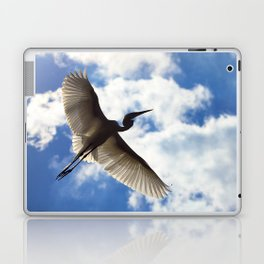Egret in flight Laptop & iPad Skin