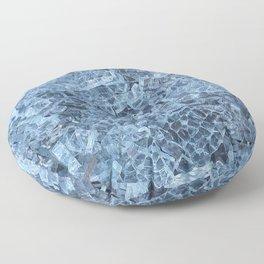 Broken Glass Abstract Pattern Floor Pillow