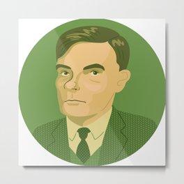 Queer Portrait - Alan Turing Metal Print