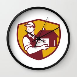 Mover Handling House Crest Retro Wall Clock