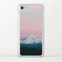 Mount Hood III Clear iPhone Case