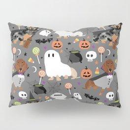 Dachshund dog breed halloween cute pattern doxie dachsie dog costumes Pillow Sham