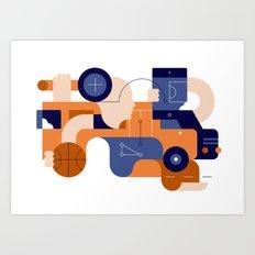 Schoolbus Art Print