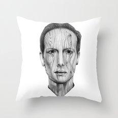 Wood Man Throw Pillow