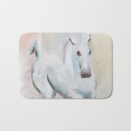 white horses Bath Mat